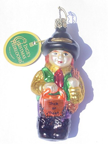 Trick or Treat Boy #1-285-02 by Inge-Glas of Germany – Christmas Tree Ornament