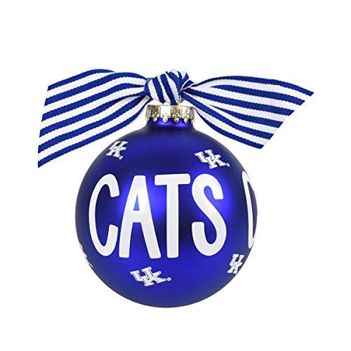 Coton Colors Kentucky Cats Glass Ornament
