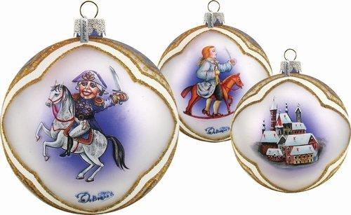 G. Debrekht Nutcracker Glass Ball Ornament, 3.5″