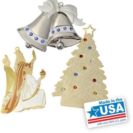 Gloria Duchin Jewel Christmas Ornaments, 6-Piece Set