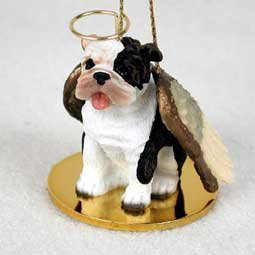 Bulldog Angel Dog Ornament – Brindle by Conversation Concepts