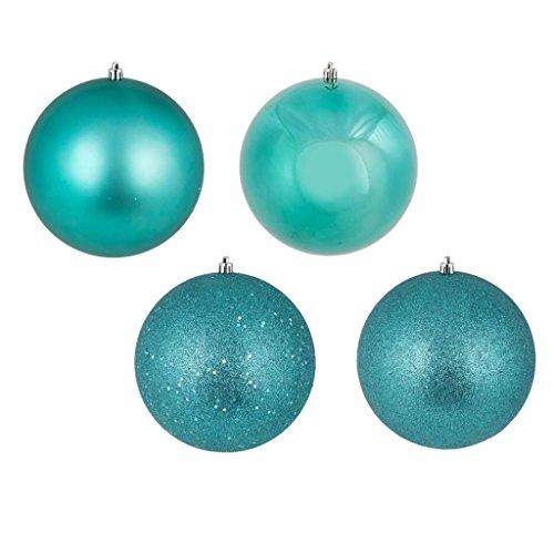 Vickerman 448588 – 2.4″ Teal 4 Finish Ball Christmas Tree Ornaments (set of 24) (N590642)