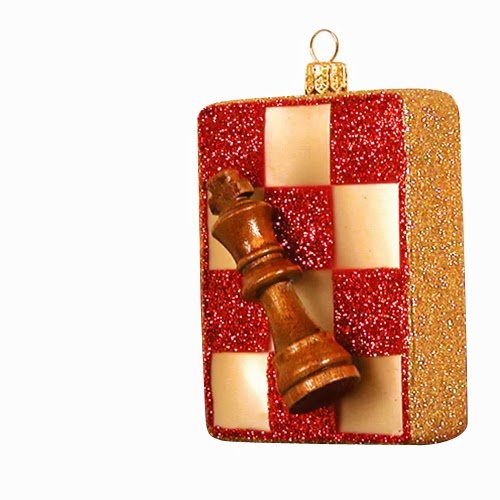 Ornaments to Remember: CHESS BOARD Christmas Ornament