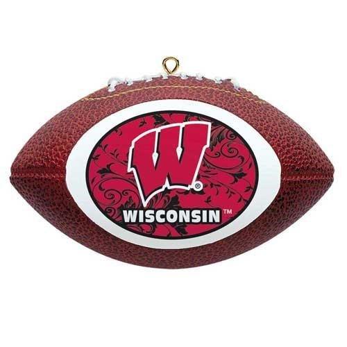 NCAA Wisconsin Badgers Mini Replica Football Ornament