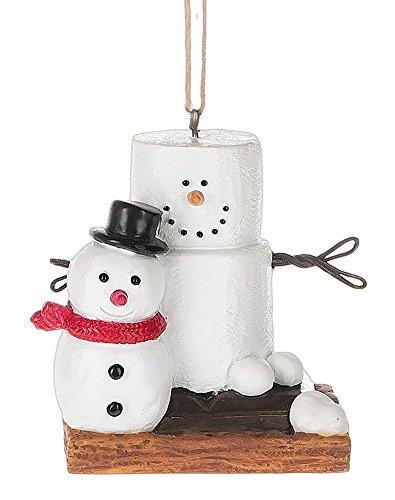 Original S'mores Smore Man with Fresh Made Snowman Christmas Tree Ornament