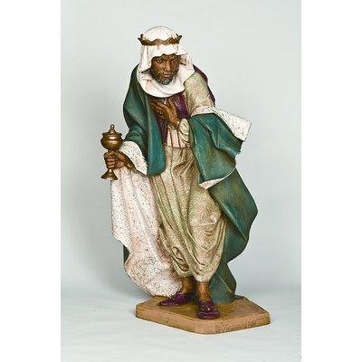 Scale Kneeling King Gaspar Figurine Christmas Decoration