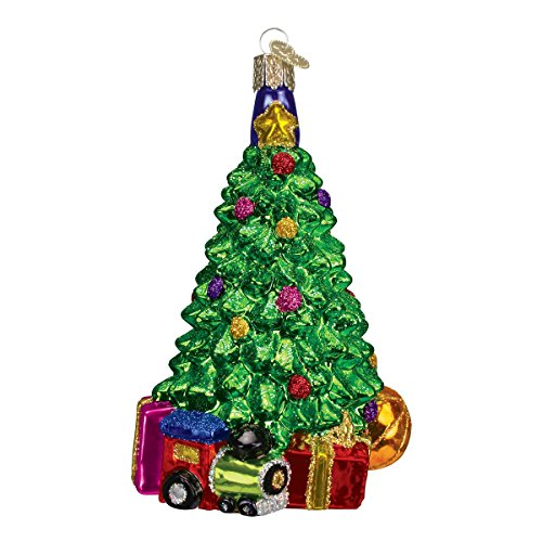 Old World Christmas Morning Tree Glass Blown Ornament