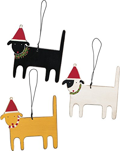 Ornaments – Christmas Dogs set of 3 3.25″ x 3.50″