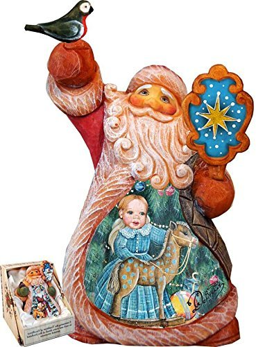 G. Debrekht Girl Rocking Horse Tiny Tale Santa Figurine