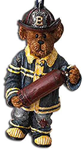 Boyds Fire Fighter Fireman with Extinguisher Teddy Bear Resin Firefighter Ornament