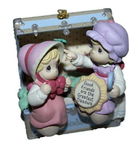 """Precious Moments Holiday Expressions Christmas Ornament """"Friends Are the Greatest Treasure"""" Limited Edition"""