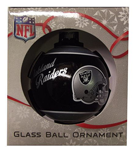 Forever Collectibles NBA, NFL, MLB and NHL Glass Ball Ornaments (Raiders)