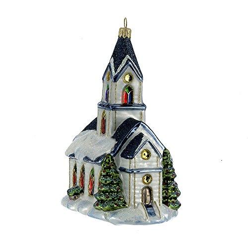 Kurt Adler 6.69″ Polonaise Glass Church Ornament