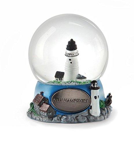 New Hampshire Snow Globe Silver 65mm