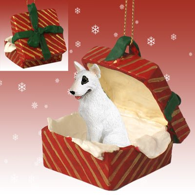 Conversation Concepts Bull Terrier Gift Box Red Ornament