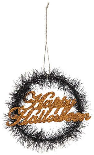 PBK Halloween Ornament – Happy Halloween Mini Tinsel Wreath #29446