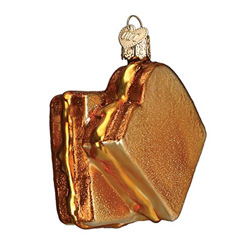 Old World Christmas Grilled Cheese Sandwich Glass Blown Ornament