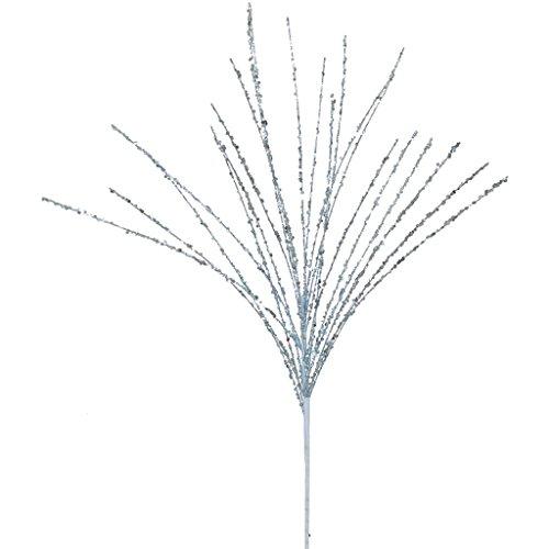 Sparkling Glitter and Sequin Grass Christmas Spray Color: Sky Blue
