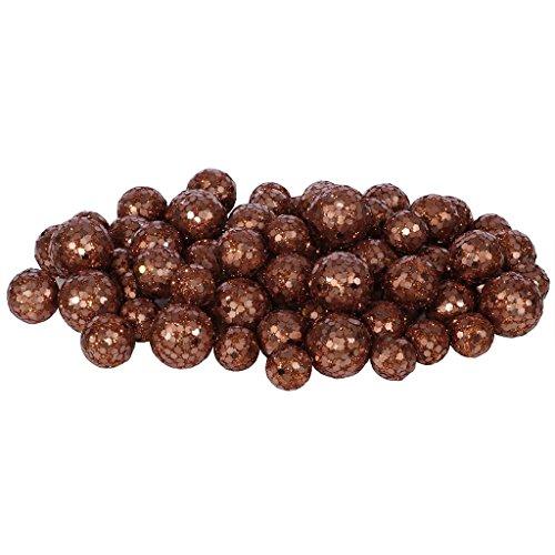 Vickerman 32961 – 20-25-30MM Dark Copper Glitter Ball Christmas Ornament (68-72 pack) (L132228)