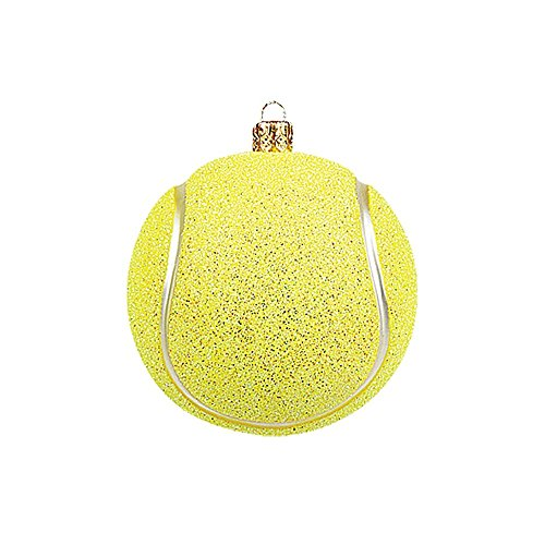 Tennis Ball Mouth Blown Glass Christmas Ornament Tree Decoration