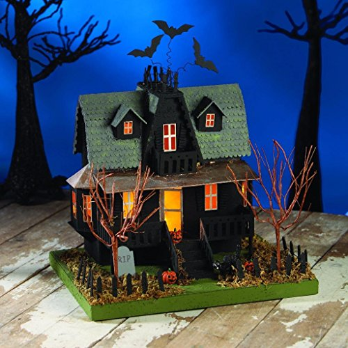 Bethany Lowe Trick or Treat Collection Haunted Halloween Village House 11″ x 12″