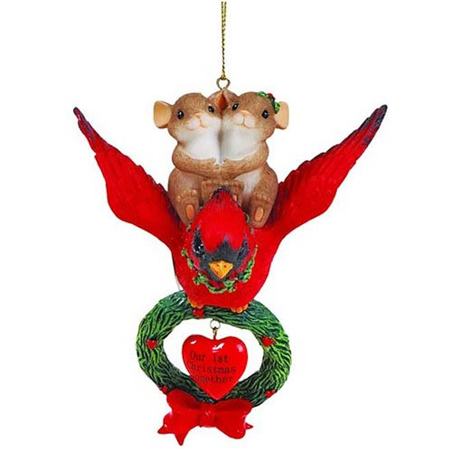 Charming Tails on the Wings of Love Our 1st Christmas Together Ornament