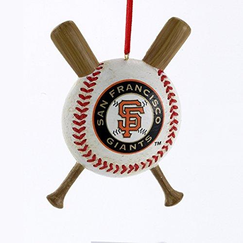 San Francisco Giants Baseball and Crossed Bats MLB Christmas Ornament by Kurt Adler
