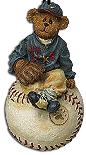 Boyds Baseball Teddy Bear Slugger Baseball Christmas Ornament