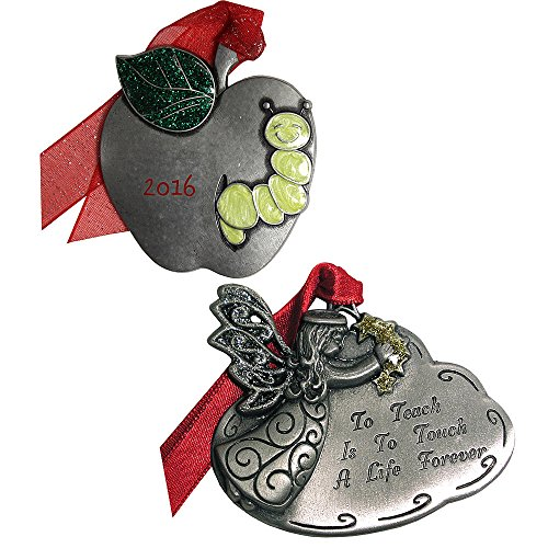 Gloria Duchin 2 Piece Teacher Ornament Gift Set