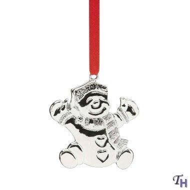 Lenox Holiday Holders Metal Snowman Ornament