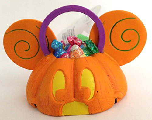 Disney Parks Mickey Mouse Ears Hat Light Up Pumpkin Ornament NEW Halloween