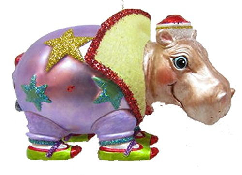 December Diamonds Blown Glass Ornament – Hippo