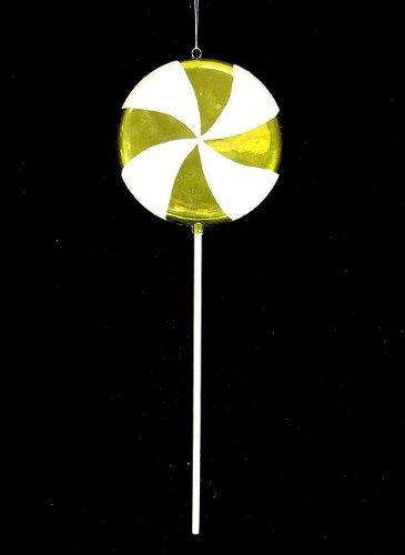 Vickerman 17″ Candy Fantasy Key Lime Swirl Lollipop Christmas Decoration Ornament, Large