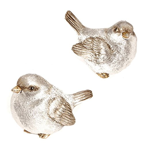 Raz 4″ Silver Birds (Set of Two)