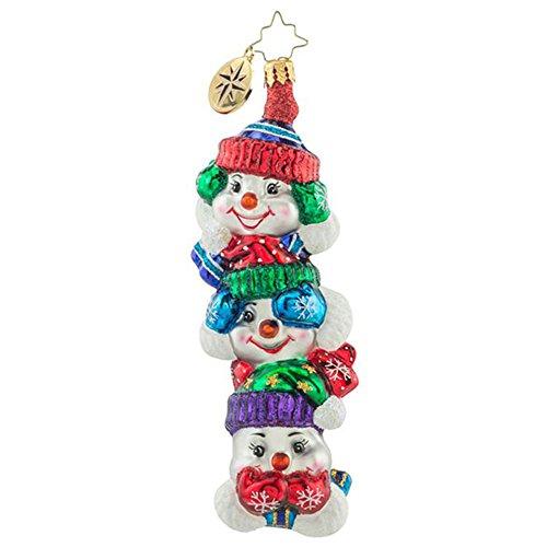 Christopher Radko Snowtem Pole Glass Christmas Ornament