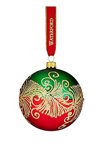 Waterford 2016 Holiday Heirloom Nostalgic Collection Peacock Nouveau Ball Ornament