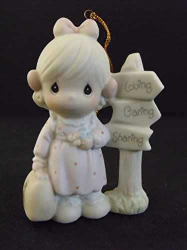 Precious Moments Figurine Ornament ~ Loving, Caring, and Sharing Along the Way #PM-040