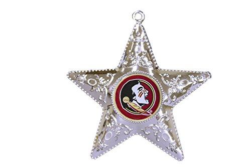 NCAA Florida State Seminoles Silver Star Ornament