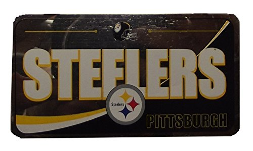 Forever Collectibles NFL Team License Plate Ornaments (Steelers)