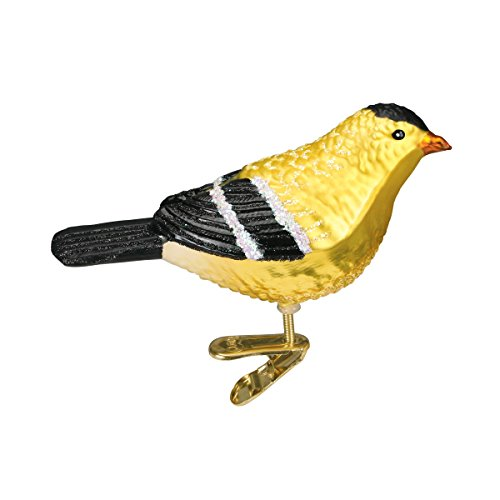 Old World Christmas American Goldfinch Glass Blown Ornament