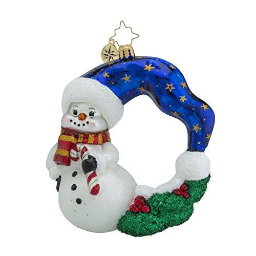 Christopher Radko Cool Chaplet Wreaths & Warmth Snowman Christmas Ornament