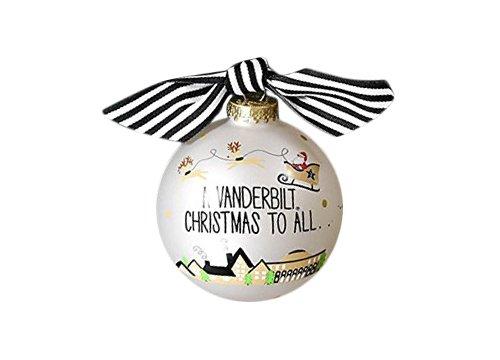Coton Colors Santa's a Vanderbilt Fan Glass Ornament