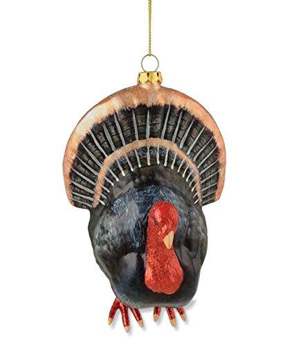 Bethany Lowe Thanksgiving Glass Turkey Ornament DA2496
