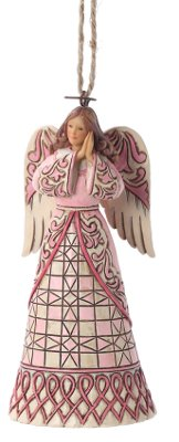 Jim Shore Breast Cancer Angel Ornament 2012 4027761