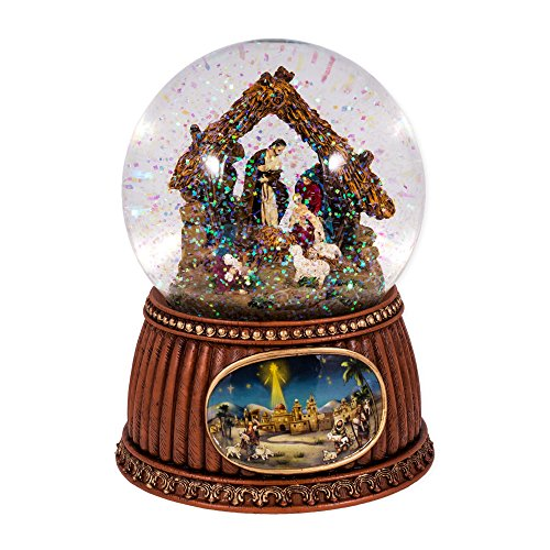 Christmas Nativity 100MM Musical Snow Globe Glitterdome – Plays Tune O'Holy Night