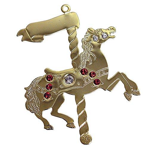 Gloria Duchin Goldtone Carousel Horse Ornament