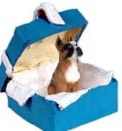 Conversation Concepts Boxer Gift Box Blue Ornament