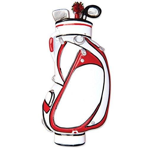 Sport Golf Bag Personalized Christmas Tree Ornament