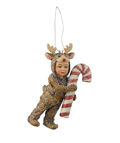 Bethany Lowe A Child's Christmas Little Boy in Reindeer Costume Ornament