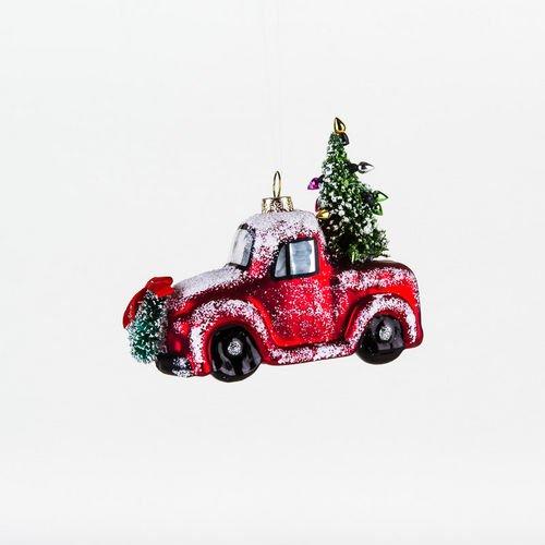 One Hundred 80 Degrees Vintage Red Pickup Truck Hanging Ornament